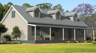flinders 2 w loft sample 1.jpg - flinders_2_w_loft_sample_1.jpg cottage, elevation, estate, facade, farmhouse, home, house, porch, property, real estate, residential area, roof, siding, suburb