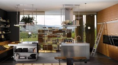 Italia Kitchen designed by Antonio Citterio for Arclinea architecture, interior design, gray, black