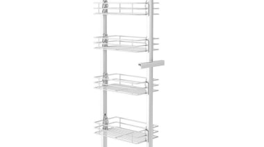 Giamo Medium Pull Out Pantry Unit with Chromed product, product design, shelving, structure, white