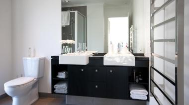 For more information, please visit www.gjgardner.co.nz bathroom, bathroom accessory, bathroom cabinet, floor, home, interior design, room, sink, white, gray