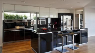 Lower Hutt Kitchen - Lower Hutt Kitchen - cabinetry, countertop, cuisine classique, floor, flooring, hardwood, interior design, kitchen, laminate flooring, real estate, wood flooring, gray, black