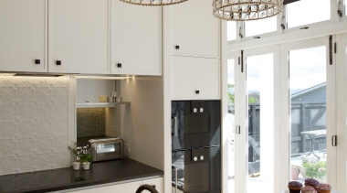 Mount Eden Kitchen - Mount Eden Kitchen - ceiling, chandelier, flooring, home, interior design, lamp, light fixture, lighting, lighting accessory, product design, gray