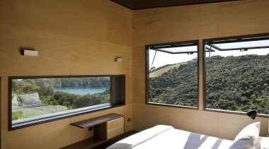 Waiheke Island, Auckland - Owhanake Bay - architecture architecture, daylighting, estate, house, interior design, property, real estate, window, brown