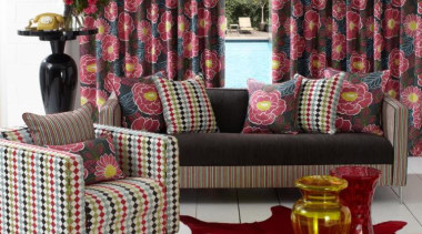 Fable Collection - Fable Collection - chair | chair, couch, curtain, cushion, furniture, home, interior design, living room, loveseat, table, textile, wicker, window, window covering, window treatment, red