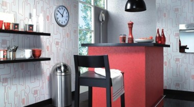 Raum Aqua Decor - Aqua Deco Range - chair, furniture, interior design, kitchen, shelving, table, gray
