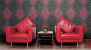Saphyr Roomset - Saphyr II Range - chair chair, couch, furniture, interior design, living room, red, room, wall, wallpaper, red, black