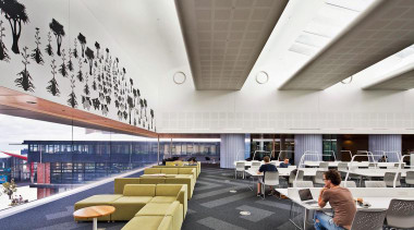 NOMINEEVictoria University of Wellington Campus Hub (1 of architecture, ceiling, daylighting, institution, interior design, white