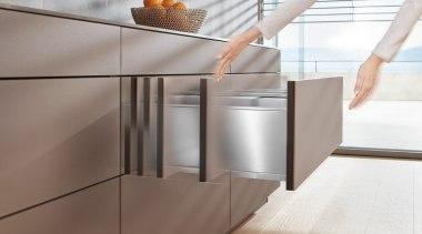 TIP-ON BLUMOTION for LEGRABOX - drawer | floor drawer, floor, flooring, furniture, product, product design, shelf, sideboard, table, tap, gray