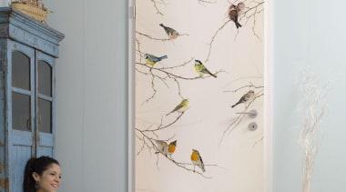 Birds Interieur - Italian Color Range - floor floor, furniture, interior design, room, wall, window, gray
