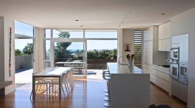 Hawkes Bay Kitchen of the Year 2009National Kitchen apartment, architecture, daylighting, floor, house, interior design, kitchen, living room, penthouse apartment, real estate, window, gray