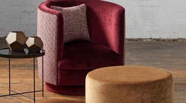 Soft, plush and inviting, this dynamic collection is chair, furniture, product, table, gray