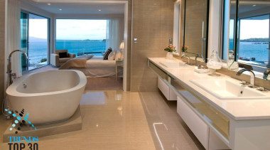 Unobstructed view to the ocean allows you to bathroom, interior design, property, real estate, yacht, brown