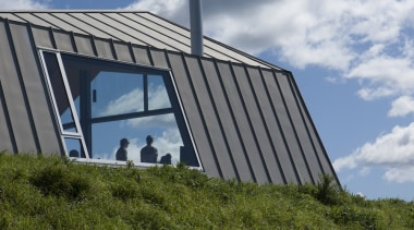 Studio2 Architects - Highly Commended – 2016 TIDA architecture, building, cloud, cottage, energy, facade, grass, hill, house, landmark, roof, rural area, sky, structure, tree, brown, gray