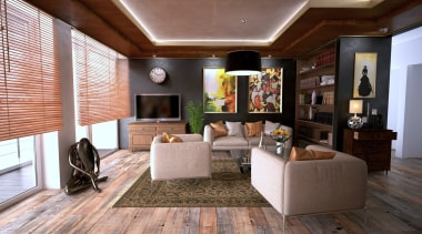 Underfloor heating ceiling, floor, flooring, interior design, living room, real estate, room, gray
