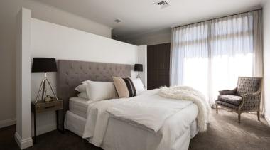 Master Bedroom - Master Bedroom - bed frame bed frame, bedroom, ceiling, floor, home, interior design, property, real estate, room, suite, wall, window, gray
