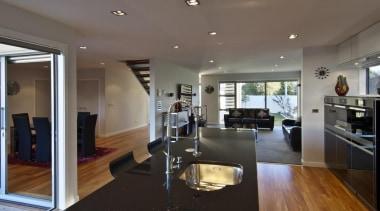 Lower Hutt Kitchen - Lower Hutt Kitchen - apartment, architecture, ceiling, floor, flooring, house, interior design, kitchen, living room, property, real estate, room, gray, black