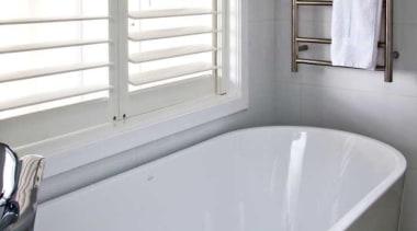 White bathtub - Bathroom - bathroom | bathtub bathroom, bathtub, floor, interior design, plumbing fixture, property, room, tap, window, gray