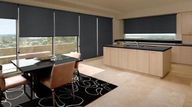 luxaflex roller blinds - luxaflex roller blinds - countertop, floor, flooring, interior design, kitchen, real estate, room, brown, black