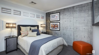 Bedroom design. - The Monterosso Two Storey Display bedroom, ceiling, home, interior design, real estate, room, suite, gray