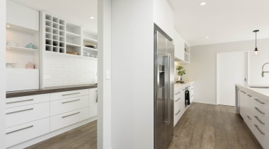 Amazing scullery behind the kitchen - Amazing scullery cabinetry, countertop, floor, flooring, home, interior design, kitchen, property, real estate, room, wood flooring, white