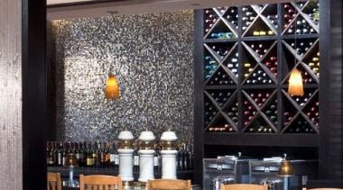 neutra melange scuro restaurant wall tiles - Vetro interior design, black, gray
