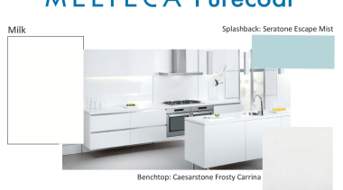 New Zealand made Melteca Purecoat surfaces utilise cutting-edge furniture, home appliance, kitchen, kitchen appliance, major appliance, product, product design, white