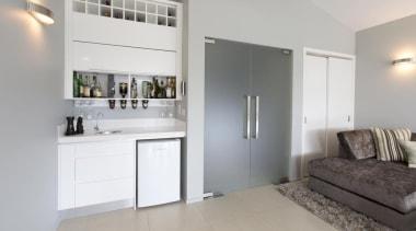 home bar, bar fridge - Forrest kitchen - home, interior design, property, real estate, room, gray