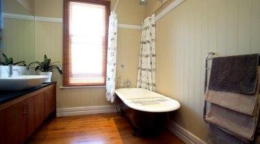 HardieGroove Lining - HardieGroove Lining 1 - bathroom bathroom, floor, flooring, home, interior design, plumbing fixture, property, real estate, room, window, wood, brown