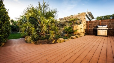 You'll be much better prepared to tackle your arecales, backyard, deck, estate, home, house, landscaping, outdoor structure, palm tree, plant, property, real estate, roof, brown, orange