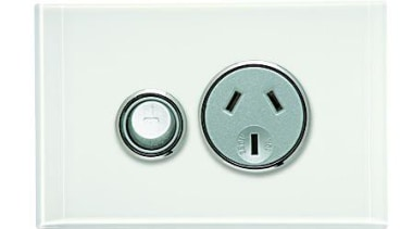 Saturn 250V single socket Pure White power point white