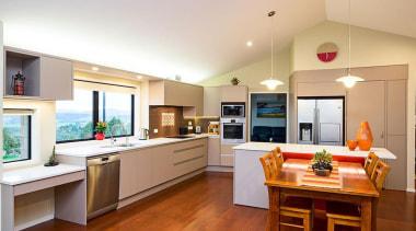 Entrant: Alexis Stanaway #2 – 2015 NKBA Design countertop, interior design, kitchen, real estate, room, white, orange