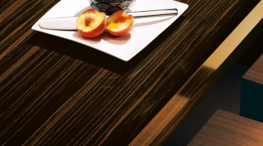 Laminex® Timber Veneer panels are an inspired choice. coffee cup, cup, product design, table, tableware, wood, black, brown