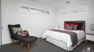 Bedroom design. - The Monterosso Two Storey Display bed frame, bedroom, floor, home, interior design, real estate, room, gray