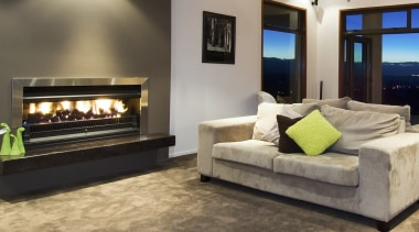 SG1100 Open Gas - SG1100 Open Gas - fireplace, floor, flooring, furniture, hearth, home, interior design, living room, property, gray