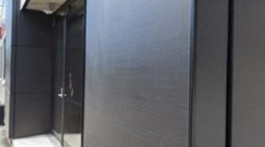 Foley Architects Building, Christchurch, New Zealand. Black cladding door, glass, property, wall, gray, black
