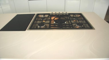 modern kitchen design, Corian bench top - modern electronics, white