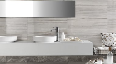 Marmi Imperiali - Elegance Striato and Royal Grey bathroom, bathroom sink, ceramic, countertop, floor, flooring, interior design, product design, sink, tap, tile, wall, gray