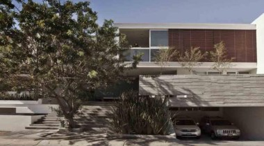 HOUSE PALMAS SEIS, Guadalajara, MexicoPOMC ARCHITECT architecture, building, facade, home, house, luxury vehicle, property, real estate, residential area, roof, tree, black, gray