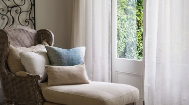 Harrisons Curtains - Harrisons Curtains - bed | bed, bed frame, chair, couch, curtain, floor, furniture, home, house, interior design, living room, room, table, textile, window, window blind, window covering, window treatment, wood, gray