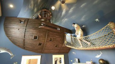 Created by Steve Kuhl of Kuhl Design Build, ceiling, longship, tourist attraction, wood, gray