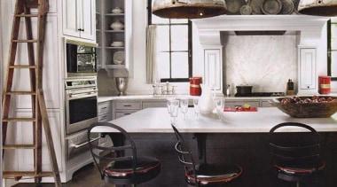 When Country met Industrial - Kitchen Design - countertop, floor, flooring, furniture, interior design, kitchen, room, table, white, black