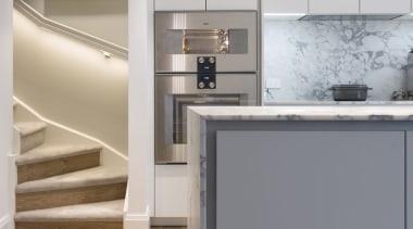 IMGL6946-9 - George Street, Apartment living - floor floor, flooring, hardwood, home appliance, interior design, kitchen, laminate flooring, product, wood flooring, gray