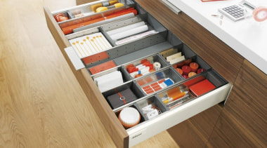 ORGA-LINE inner dividing system – so many practical drawer, furniture, product, product design, table, white, brown, orange