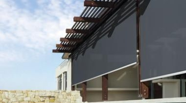 luxaflex evo cable awning - luxaflex evo cable architecture, building, daylighting, facade, house, roof, sky, structure, teal