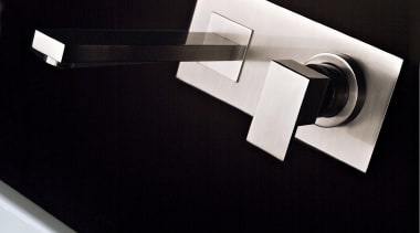 Refined lines make this Rettangolo faucet a work plumbing fixture, product design, tap, black