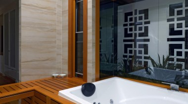 Winner Bathroom Design of the Year 2013 Hunter architecture, bathroom, bathtub, floor, interior design, room, gray, brown