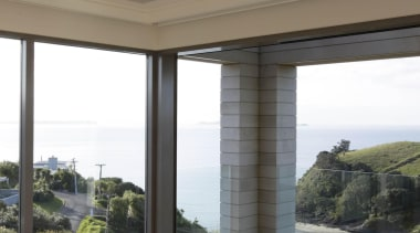 Full height Eurostackers maximise views and neatly tuck architecture, house, property, real estate, structure, window, gray