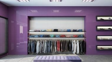Seratone Escape offer 16 ultra-glossy colours born from boutique, interior design, product, purple, retail, purple, gray