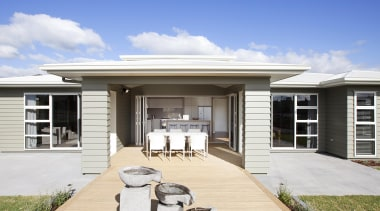 Award winning showcase by Fowler Homes Tauranga, featuring elevation, estate, facade, home, house, property, real estate, residential area, siding, white
