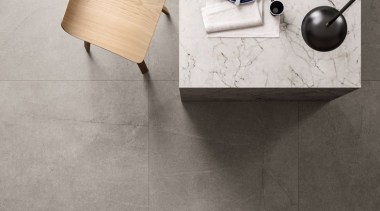 Resistant to impact, abrasion, flexion, weather conditions, fire, ceramic, floor, flooring, tap, tile, wall, wood, gray, white